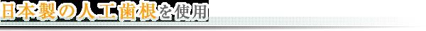 日本製の人工歯根を使用